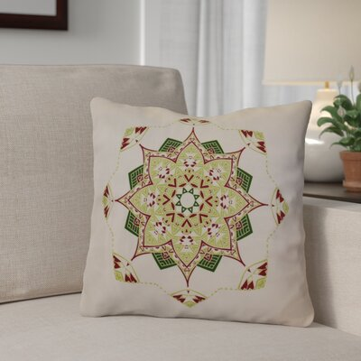 Aneesh Outdoor Throw Pillow Size: 16 H x 16 W, Color: Cranberry