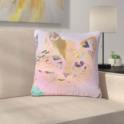 Vasare Nar Psychedelic Cat Outdoor Throw Pillow Size: 18 H x 18 W x 5 D