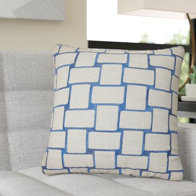 Reeve Geometric Throw Pillow Color: Navy