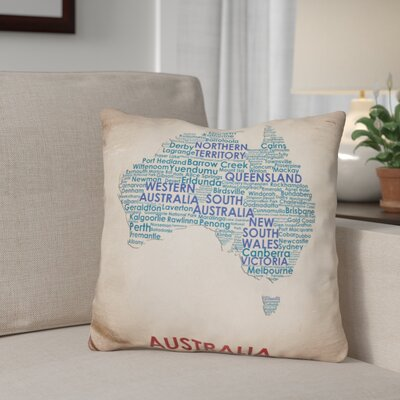 Gerrity Australia Throw Pillow