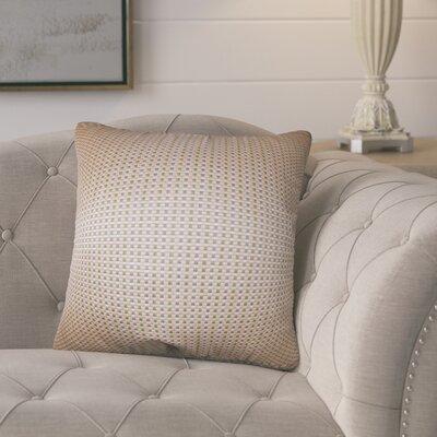 Polston Geometric Silk Throw Pillow