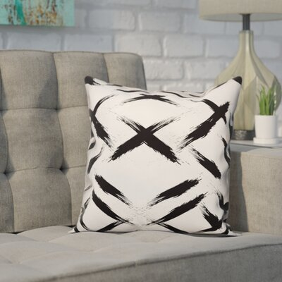 Novotny Brush Strokes Size: 16 x 16, Type: Pillow Cover