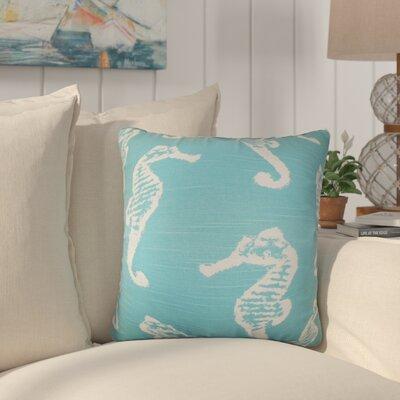 Olivia Coastal Cotton Throw Pillow Color: Light Blue