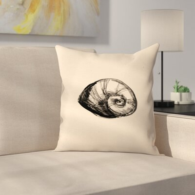 Jetty Printables Illustrated Sea Shell 2 Throw Pillow Size: 14 x 14