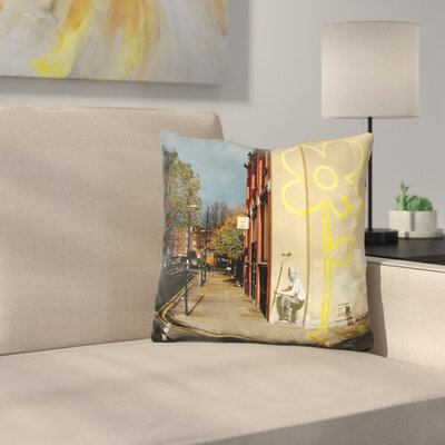 Lines Flower Painter Throw Pillow