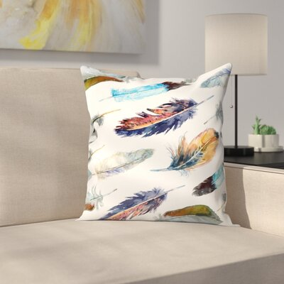 Feathers 2 Throw Pillow Size: 14 x 14