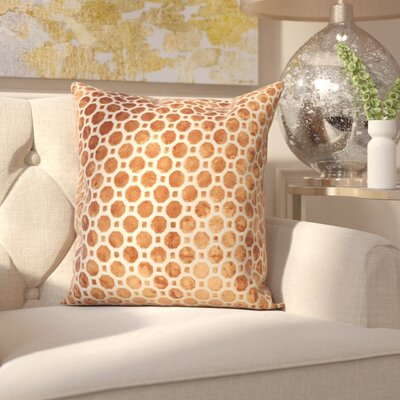 Carlie Velvet Throw Pillow Color: Copper, Size: 18 H x 18 W