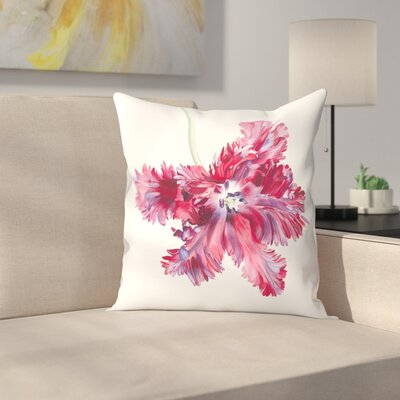 Black Parrot Tulip No 2 Throw Pillow Size: 20 x 20