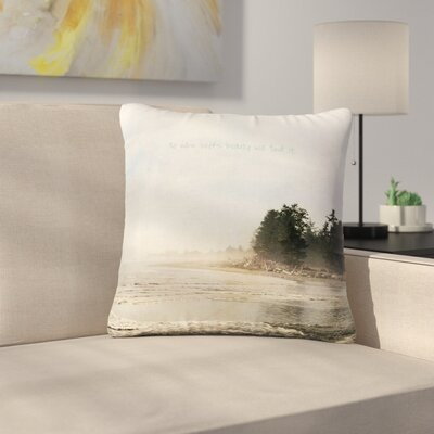 Robin Dickinson He Who Seeks Beauty Coastal Outdoor Throw Pillow Size: 18 H x 18 W x 5 D