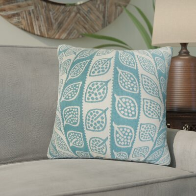 Graysen Foliage Throw Pillow Color: Blue