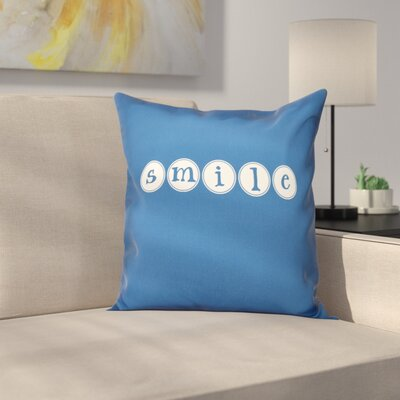 Sperber Throw Pillow Size: 18 H x 18 W, Color: Blue