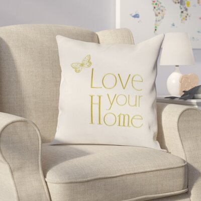 Graves Embroidery Throw Pillow (Set of 2) Color: Cream