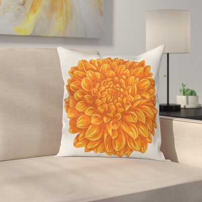 Dahlia Flower Square Pillow Cover Size: 16 x 16
