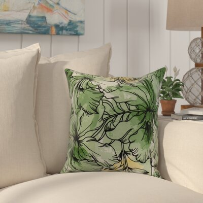 Randall Floral Print Indoor/Outdoor Throw Pillow Color: Green, Size: 20 x 20