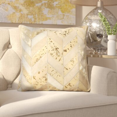 Manoj Metallic Herringbone Throw Pillow Size: 18 x 18
