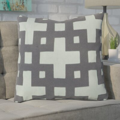 Cleanthes Cotton Throw Pillow Color: Blue / Gray