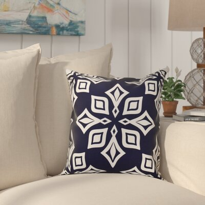 Cedarville Star Geometric Print Outdoor Throw Pillow Size: 20 H x 20 W, Color: Navy Blue