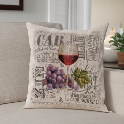 Blakeway Wine Country Square Throw Pillow