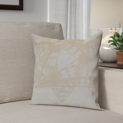 Hanukkah 2016 Decorative Holiday Geometric Outdoor Throw Pillow Size: 18 H x 18 W x 2 D, Color: Cream / Off White