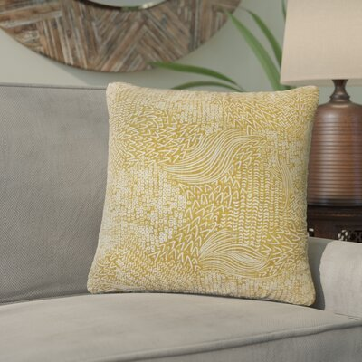 Zack Geometric Square Cotton Throw Pillow Color: Amber
