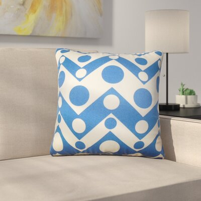 Rudnick Geometric Cotton Throw Pillow Color: Blue