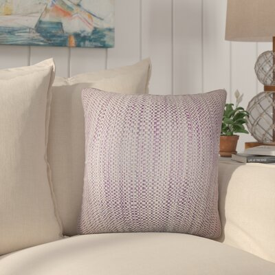 Jasmine Woven Throw Pillow Color: Purple
