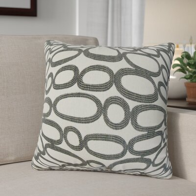 Penshire Geometric Throw Pillow Cover Color: Ebony