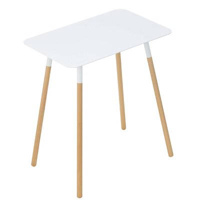 Coelho End Table Table Top Color: White