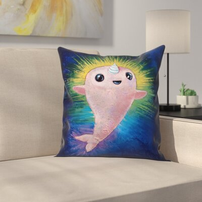 Baby Narwhal Throw Pillow Size: 20 x 20