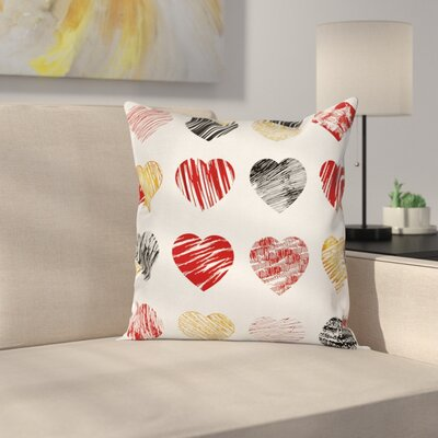 Hearts Pillow Cover Size: 24 x 24