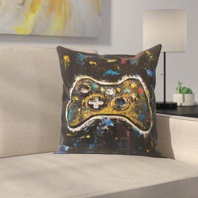 Video Gamer Throw Pillow Size: 16 x 16