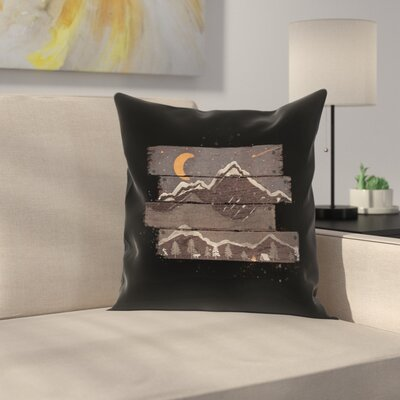 Into The Gray Night Throw Pillow Size: 20 x 20