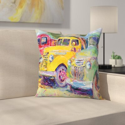 Trucks Throw Pillow Size: 20 x 20