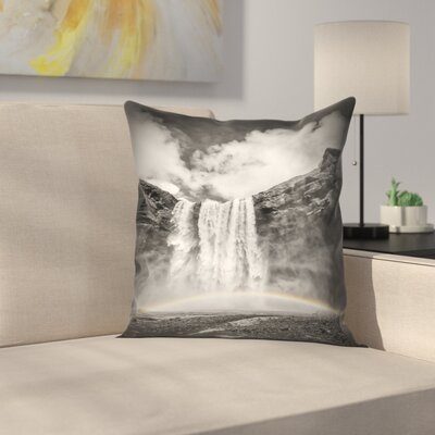 Iceland Skogafoss Throw Pillow Size: 14 x 14