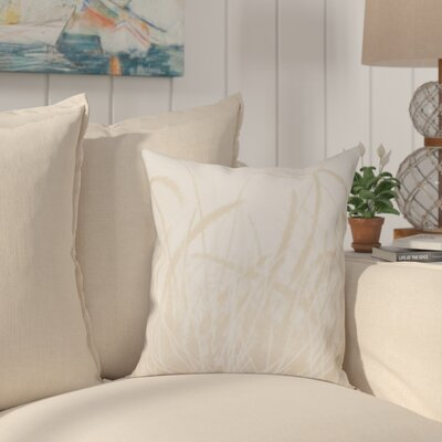 Cedarville Grass 1 Throw Pillow Size: 16 H x 16 W, Color: Taupe