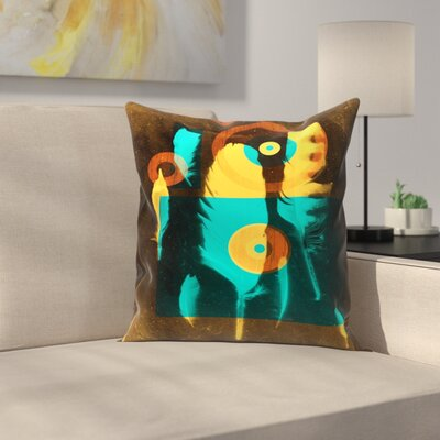 Feathers Throw Pillow Size: 18 x 18