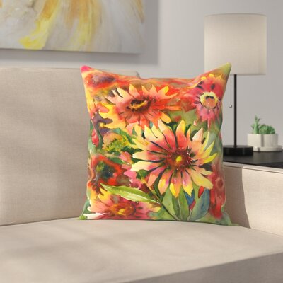 Blanket Flowers Throw Pillow Size: 16 x 16