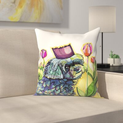 Molly Dog Throw Pillow Size: 16 x 16
