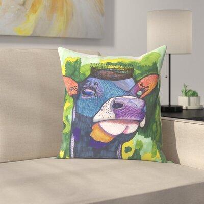 Royal Cow Throw Pillow Size: 20 x 20