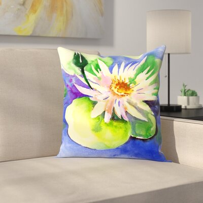 Lotus Throw Pillow Size: 16 x 16