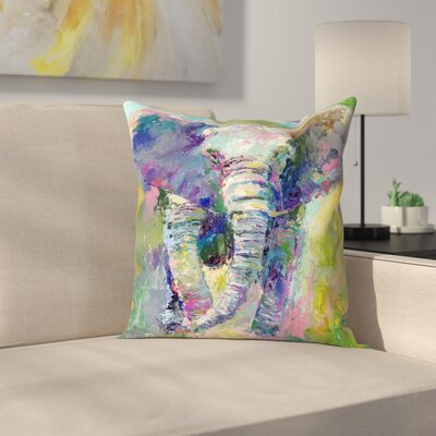 Elephant1 Throw Pillow Size: 18 x 18