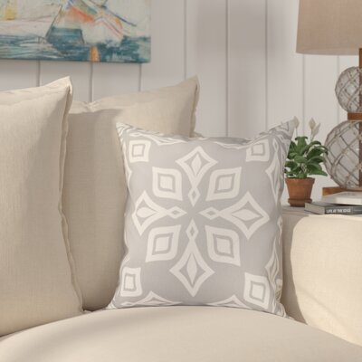 Cedarville Star Geometric Print Outdoor Throw Pillow Size: 18 H x 18 W, Color: Gray
