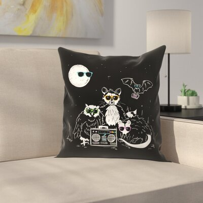 We Wear Our Sun Glasses At Night Throw Pillow Size: 14 x 14