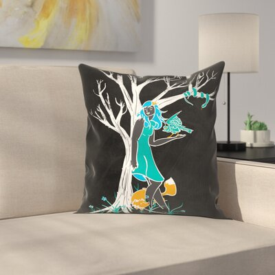 Keeper of the Wood Throw Pillow Size: 14 x 14