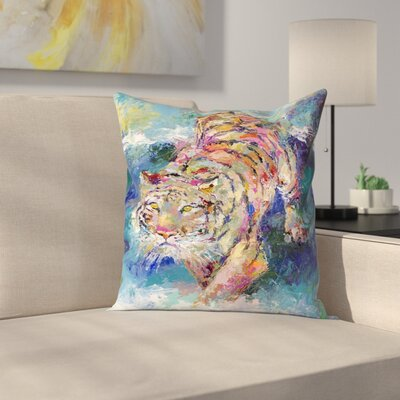 Tiger1 Throw Pillow Size: 20 x 20