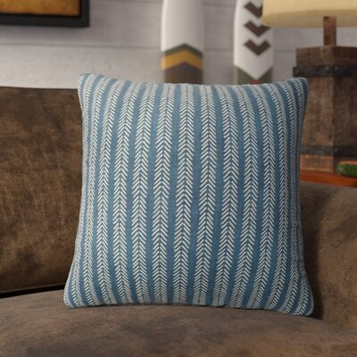 Couturier Striped Square Throw Pillow (Set of 16) Color: Teal, Size: 18 H x 18 W