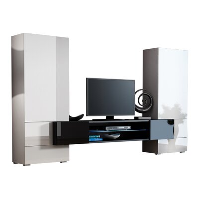 Priester Tori Modern Entertainment Center Color: White/Black