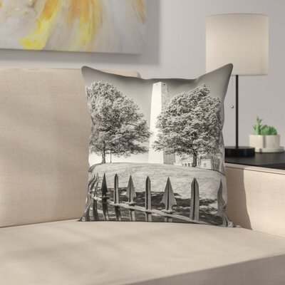 Boston Bunker Hill Monument Throw Pillow Size: 16 x 16