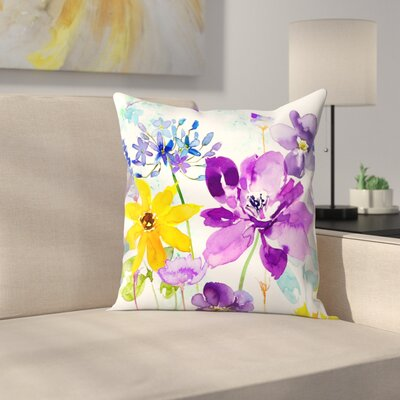 Floral Shimmer Throw Pillow Size: 16 x 16