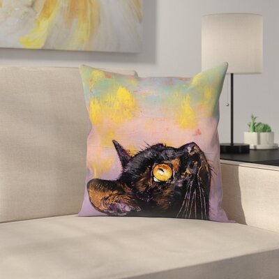 Fixed Gaze Throw Pillow Size: 18 x 18